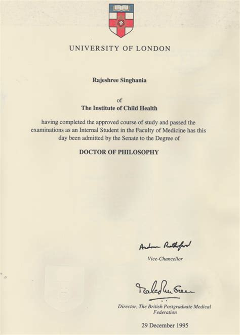 Uol Mba by Of Doctor Philosophy Pediatrician