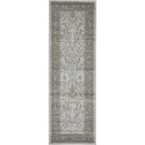 6 foot runner rug unique loom la jolla light gray 2 ft x 6 ft runner rug 3133384 the home depot