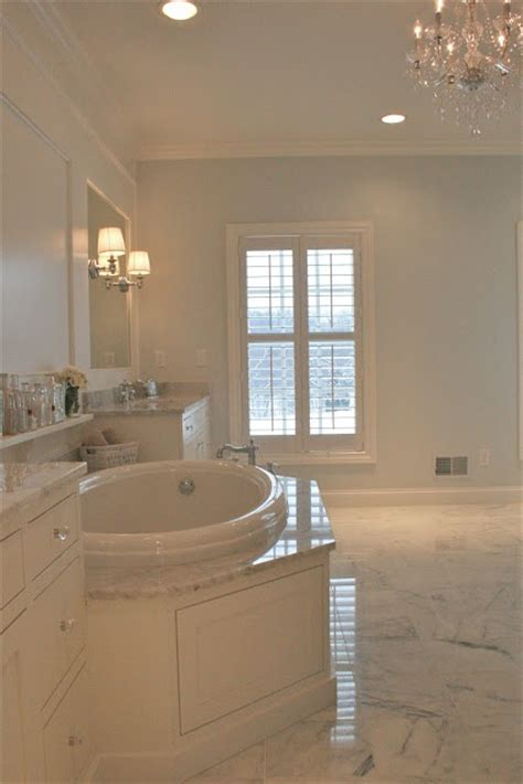 Walls are Sherwin Williams Quicksilver and cabinets and