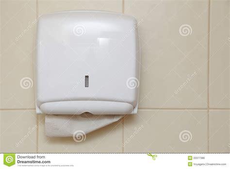 Bathroom Towel Dispenser by Paper Towel Dispenser In The Bathroom Royalty Free Stock Image Image 33377386