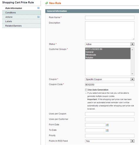 Magento Home Page Design Tutorial How To Setup Coupon Promotion Codes Magento Guide 1 Pixafy