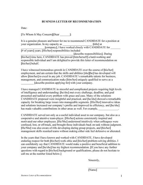 Letter Of Recommendation For Beginning 43 Free Letter Of Recommendation Templates Sles