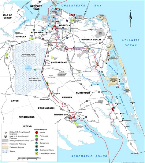 intracoastal waterway map the dismal sw canal carolina digital history