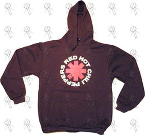 Hoodie Sweater Chili Paper Logo chili peppers maroon rhcp logo hoodie clothing hoodies records