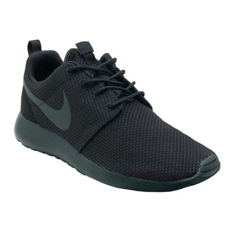 nike mens slippers nike roshe one black black mens shoes from attic clothing uk