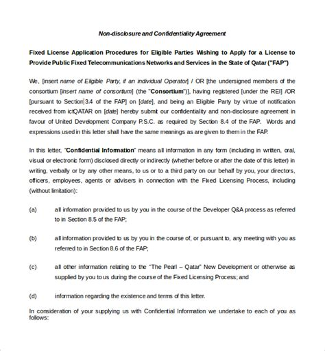 real estate confidentiality agreement sle real estate confidentiality agreement 9 free