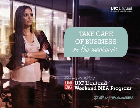 Chicago Weekend Mba Programs by Uic Business