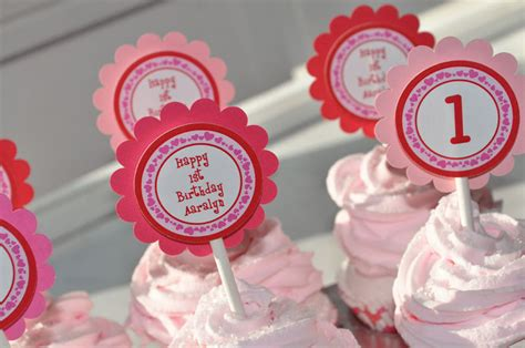 party themes in february 12 valentine birthday cupcake toppers valentine s day