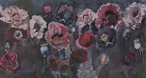carta da parati  motivi floreali pavot collezione