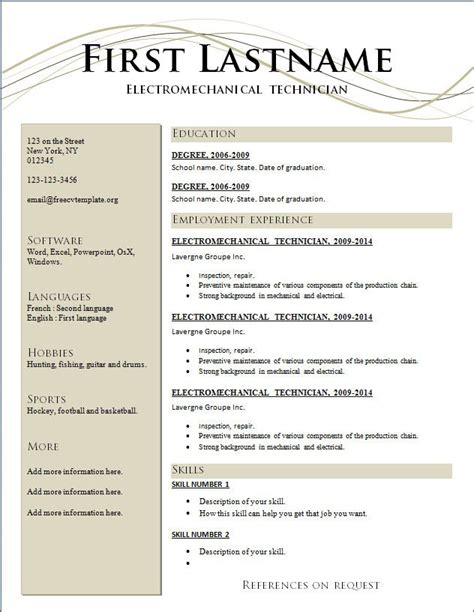 best resume templates free resume format downloads 60 ca professional resume format