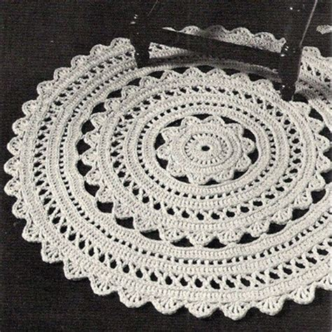 free crochet patterns for rugs doily rug doilies and 1960s on