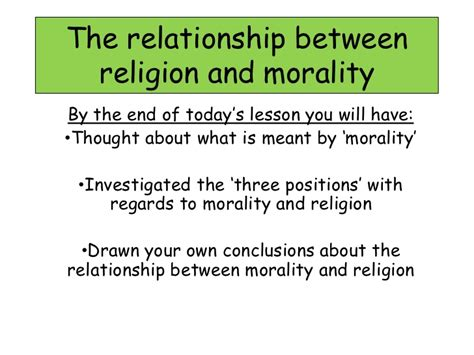 Religion And Morality Essay by 1 2 1 The Relationship Between Religion And Morality