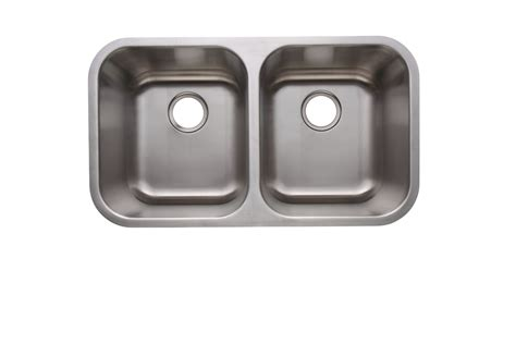 18 10 stainless steel kitchen sinks as101 31 quot x 18 quot x 10 quot 10 quot 18g double bowl undermount