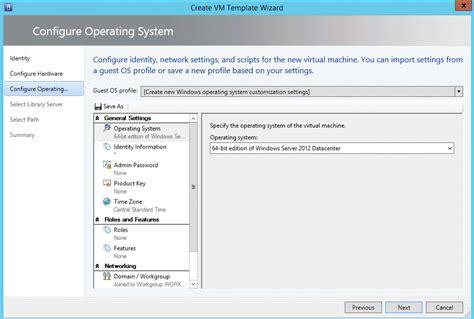 creating generation 2 virtual machine templates on scvmm