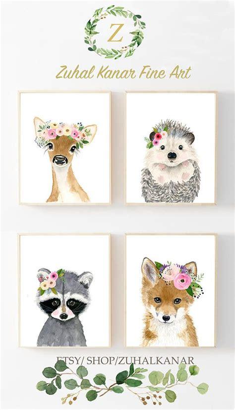 Kinderzimmer Gestalten Ideen 4052 by Baby Animals Print Set Set Of 4 Prints Baby Nursery