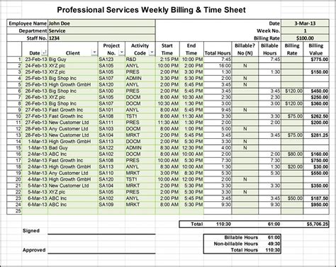 consultant time tracking template excel timesheet templates for consultants chainimage