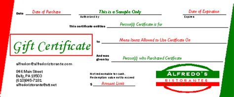 pizza gift certificates image search results