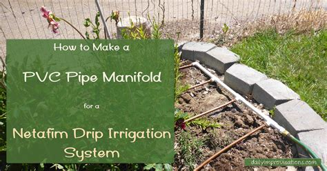 how to build a pipe l irrigation manifolds orbit 3 internachi inspection