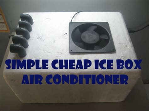 how to make a room cooler simple cheap ice box air conditioner 5 steps
