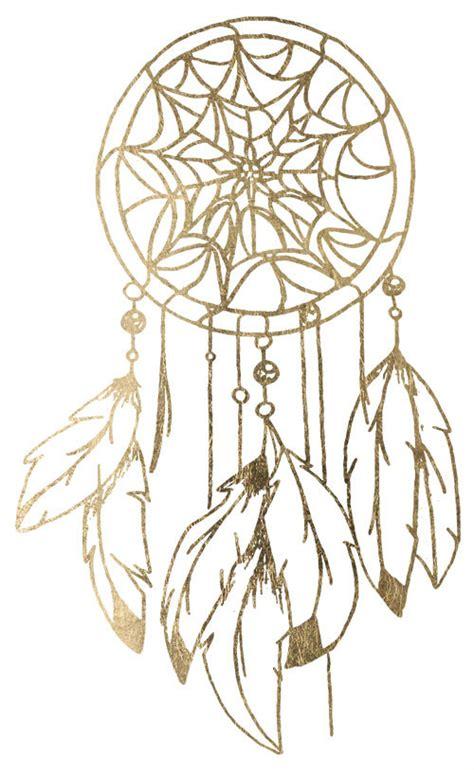 dreamcatcher gold tattoo gold dream catcher tattoo tatouage m 233 tallique or