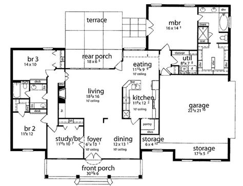 slab house plans residential house plans 4 bedrooms slab house floor plans