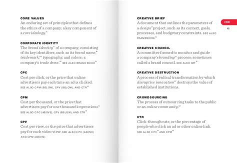 design brief with specifications and constraints the dictionary of brand by marty neumeier