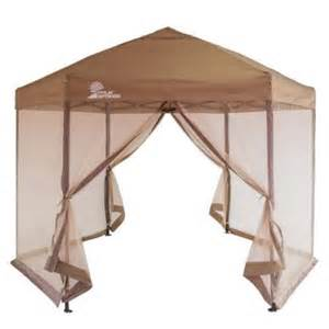 Pop Up Canopy Walmart by Palm Springs Hexagonal Pop Up Canopy Tent With Mesh Walls