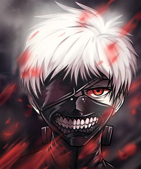 imagenes anime kaneki how to draw kaneki ken from tokyo ghoul step by step