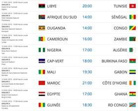 programme des 233 liminatoires 224 la coupe du monde