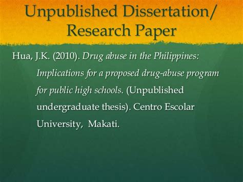 unpublished doctoral dissertation apa citation format