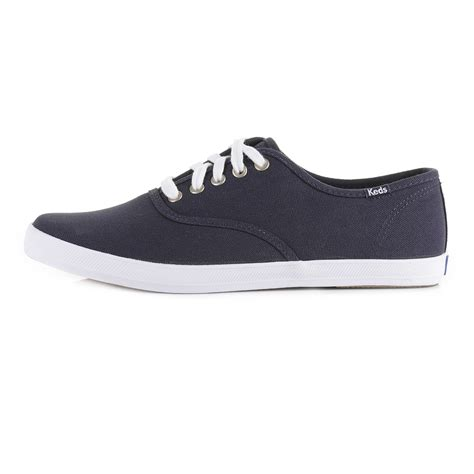 mens keds chion originals canvas lace up navy casual