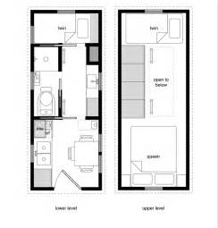 Tiny Home Floor Plan Tiny House Floor Plans With Lower Level Beds Tiny House
