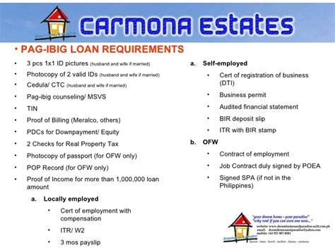 pag ibig housing loan requirements for ofw pag ibig ofw housing loan requirements requirements for pag ibig housing loan ofw 28