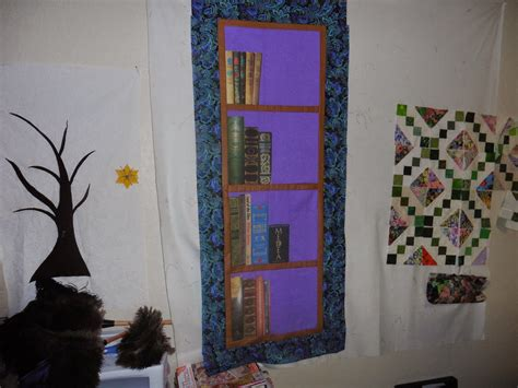 Wall Hanging Ls by Mel S Quilting Bookshelf Wall Hanging