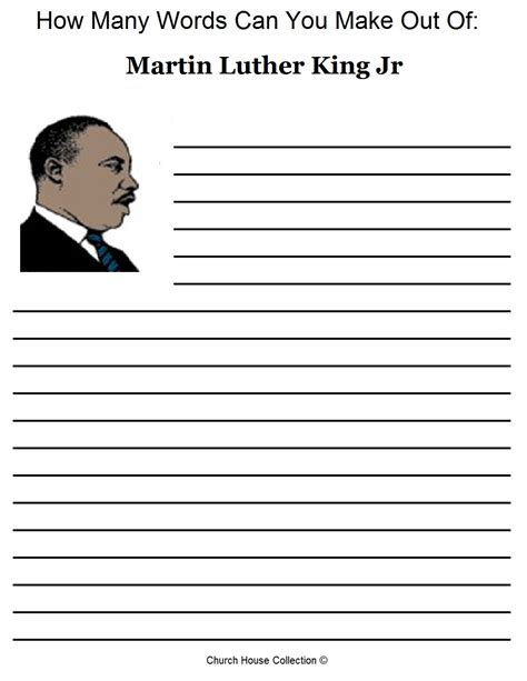 martin luther king printable activity sheets martin luther king jr activity sheet
