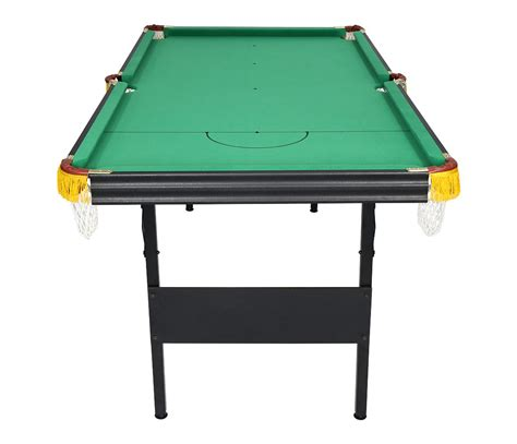 Folding Pool Table 6ft 6ft 2 In 1 Folding Snooker Pool Table With Billiard Balls Cue Other Accessories Ebay