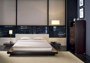 modern contemporary decor features of the bedroom interior in the modern style
