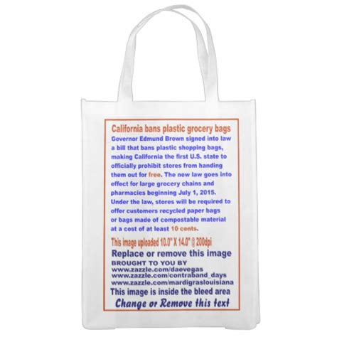 News The Bag Forum by California Bans Plastic Grocery Bags View About De Zazzle