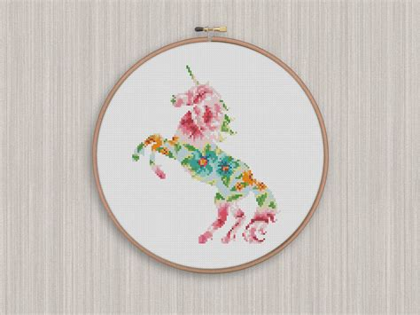 unicorn cross stitch pattern bogo free unicorn cross stitch pattern floral unicorn