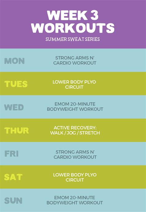 planning out the week fitness geekiness 2016 summer sweat series fitness plan week 3 fit foodie
