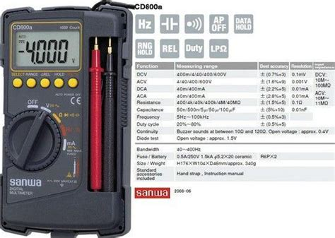 Multimeter Digital Merk Sanwa sanwa cd800a digital multimeter japan dhaka mirpur