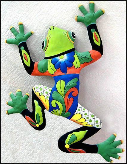 frog hill designs beach decoration design green frog patio art painted metal tropical wall