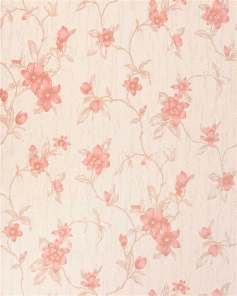 dusky pink wallpaper uk edem 032 23 vinyl wallpaper floral design flower beige