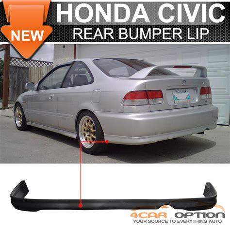 1999 honda civic bumper fits 99 00 honda civic 1999 2000 2 4dr rear bumper lip