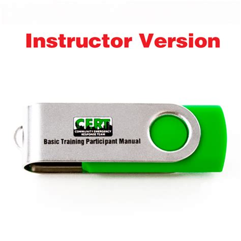 cert basic participant manual books cert instructor guide on usb flash drive propac usa