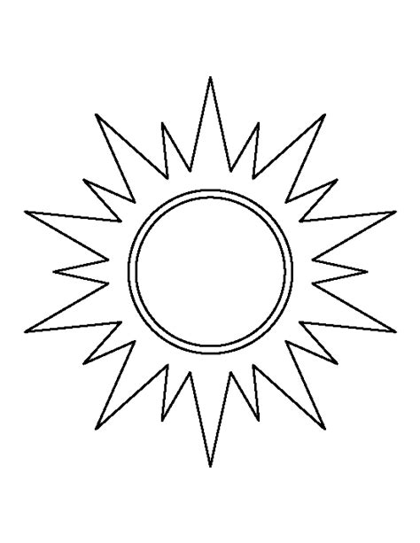 Free Sun Outline by Best Sun Outline 1526 Clipartion