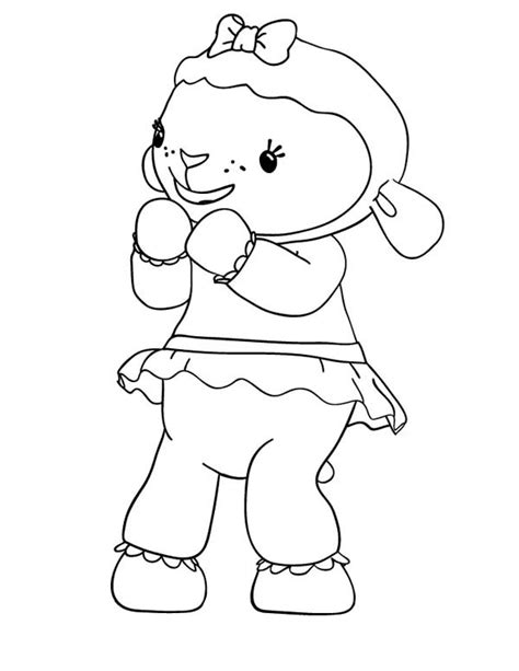 doc mcstuffins happy birthday coloring pages lambie the lamb is happy in doc mcstuffins coloring page