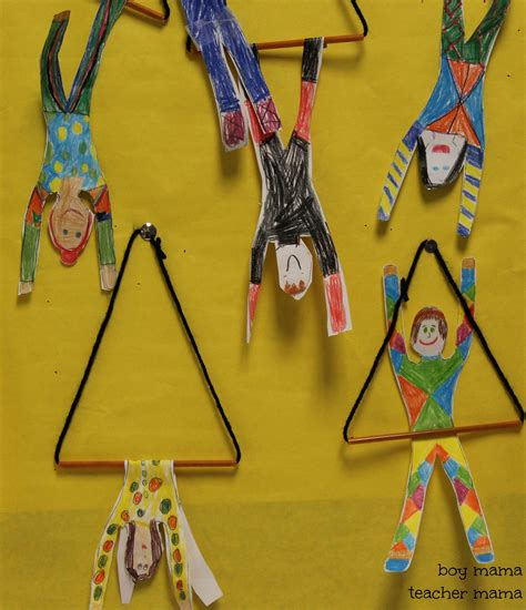 circus crafts for circus craft trapeze artist boy
