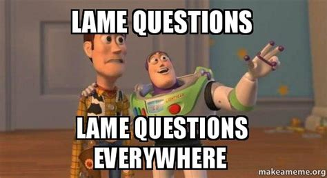 Lame Meme - lame questions lame questions everywhere buzz and woody