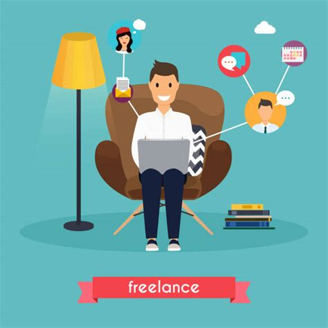 work  home illustrations royalty  vector graphics